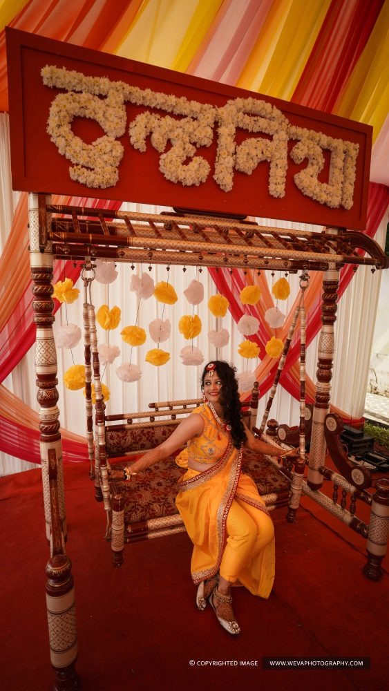 Draped in yellow, filled with colours and incredible moments!!! Weva portrays the bliss and celebrations of a very auspicious and happy occasion of Bride Reshma..