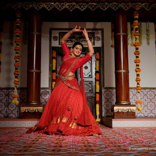 A Classic Sangeet Ceremony With Picturesque Bride