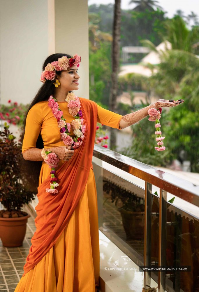 Gorgeous Haldi Day with unique outfits and interesting themes..