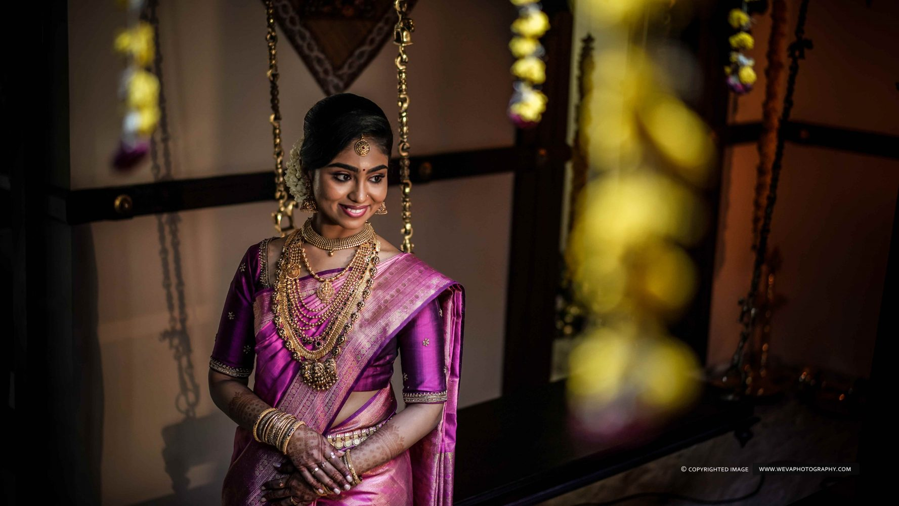 Music is the wine of love like traditions for wedding.. When it comes to a traditional girl, our bride Veena rocks the day. Veena, who wears her smile like it's her best bridal accessories and really proves that wine purple is, in fact the happiest colour. Here is the few glimpses of her most happiest moments