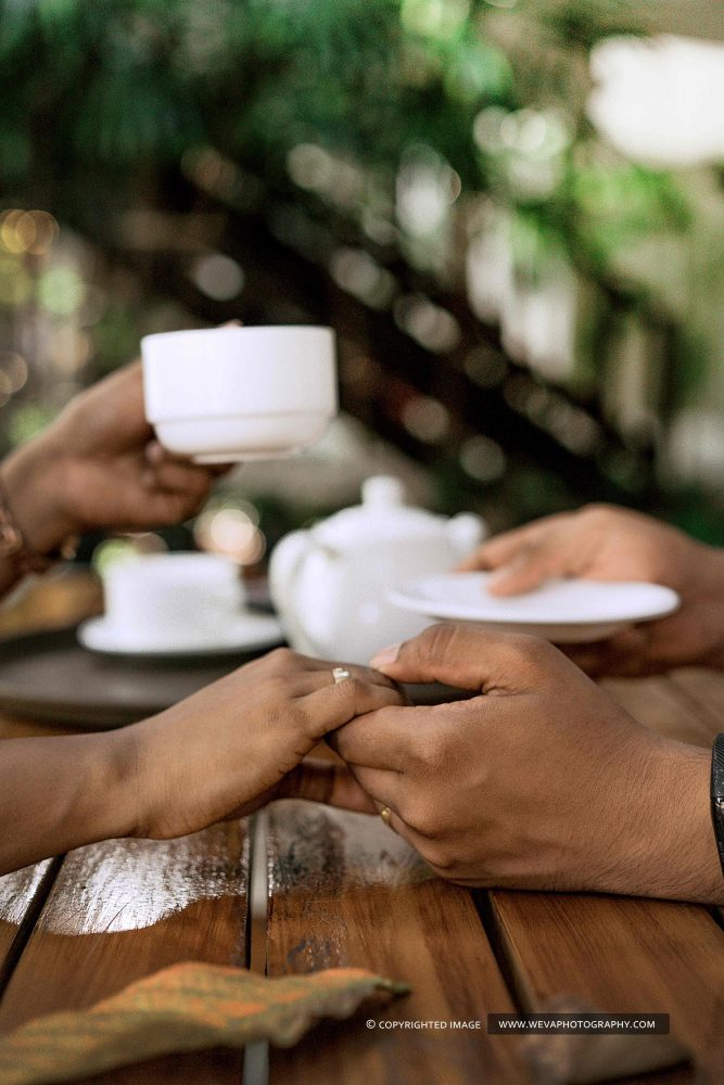 The ever so romantic tea time.  They thought about memories, dreams and laughs. Their world is so beautiful, They sway gracefully to love and then.