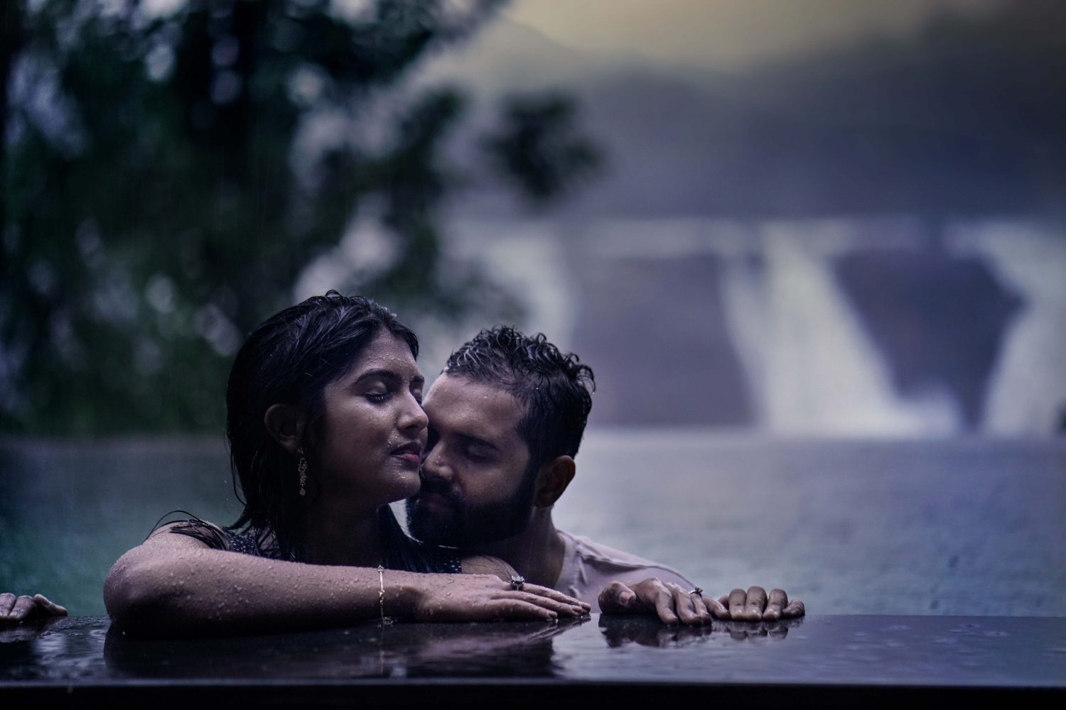 You with me and me with you, bonded together in monsoon shower!. In this romantic soothing breeze, I wish the fragrance of our love and beauty stays forever.